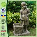 """37 """" peu fille arrosage Antique gros Statue Pots de fleurs"""