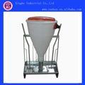 chasis de acero inoxidable barril de plástico en seco y húmedo de cerdo alimentación a través de