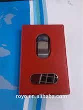Guangzhou super strong vinyl pocket business card holder for promotion product manufacturer in china