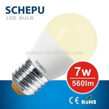 Schepu dimmable LED bulb 7watt, G45, E27, warm white, 8cm modern shape, body: ALU coated by heat conductive plastic