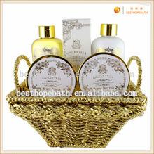 wire basket body set, luxury basket body bath works,2014 spa body gift set