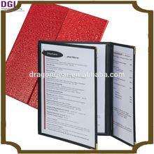 Leatherette Three Fold Panel Pocket Menu Cover, handmade menu cards