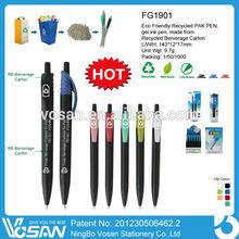 Eco Friendly Recycled Pak Gel Ink Pen