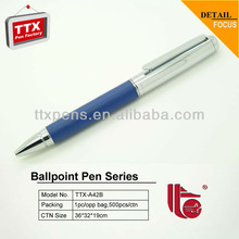 Twist mechanism rubber barrel metal pens