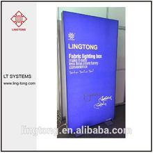 aluminium light frame of Indoor LED Fabric light box for advertising