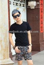 2014 Peijiaxin Fashion Pure Color V-neck Wholesale T shirts Cheap T shirts in Bulk Plain