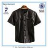2014 new black cool mens jacket short sleeve leather T-shirt