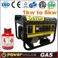Fiable chine usage domestique 2kva 2.5kva 2.8kva 3kva 4kva 5kva 6kva gaz naturel générateur à Turbine à vendre