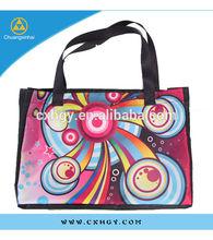 Fashion Delicate Printed Lady Canvas Handbag