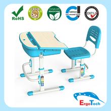 Modern Plastic School desk and chair set