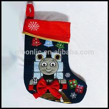 2014 3D christmas socks thomas train santa zhejiang arts and crafts xmas christmas gift 3D christmas socks santa claus & deer