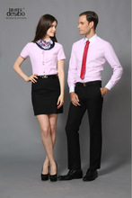 2014 women formal shirt designs short sleeve with competitive price