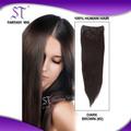 Ventas al por mayor baratos 100% humanos clip del pelo en extensiones de cabello