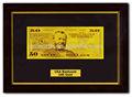 ประสิทธิภาพสูงทอง24kธนบัตรพิมพ์50usdกับความหรูหราไม้กรอบรูปเงินปลอมmoqไม่มี