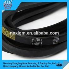 Sanliu highest selling agricultural product raw edge stretch rubber cogged harvester v belt
