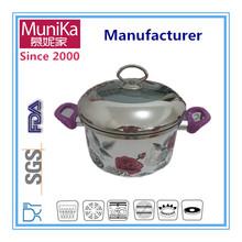 Cookware porcelain carbon steel soup pot induction bottom, non-stick aluminum indian cooking soup pots, Ceramic cast iron pots