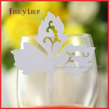 Wholesale Laser Cut Party Decorations,Bookmark Maple Leaves Shaped Fancy Cup Card For Christmas,Wedding,Party Favor Decor