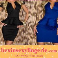 Big stocks high quality peplum fashion ladies bandage dress