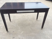 wooden desk with drawer