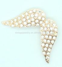 Diamond Pave Angel Wings Brooch wholesale DGLX001