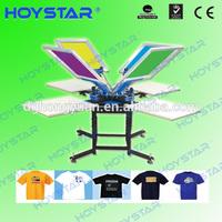 4 color 4 stations carrossel manual para serigrafia for t-shirts