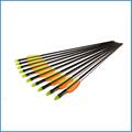 "Caliente la venta de fibra de vidrio arco flechas, 20"" flechas de ballesta, flecha de carbono eje"