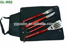 4 Piece BBQ Grill Tool Set Spatula/Fork/Tongs/Knife BBQ