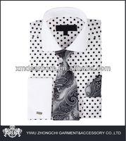 printed polka dots shirt with printed tie