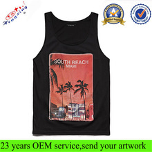 Custom Print Wholesale Cotton Custom Mens Tank Top