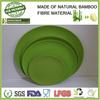Green bamboo fibre eco friendly food tray