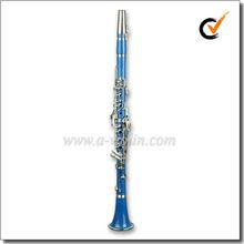 ABS Light Blue 17 Keys Bb Key Colorful Clarinet (CL3071-Blue)