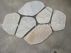 Oyster paving stone tile on mesh