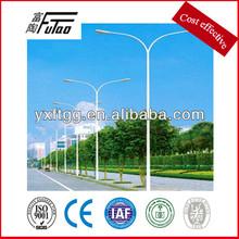 Double arm steel street lighting poles