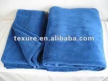 Navy Blue Coral Fleece Blanket