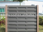 Weather resistant outdoor composition fencing