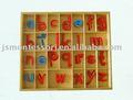 Montessori alfabeto muebles pequeños, de madera