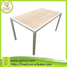 Outdoor 304 stainless steel teak table