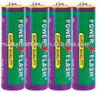 R6P UM-3 Size AA Metallic/Aluminum Jacket Dry Battery