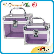 Luxury aluminum acrylic makeup storage box