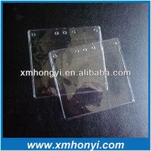 Soft PVC promotional card holder, plastic badge holder,plastic business card holders