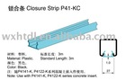 plastic channel closure strip