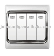 4 gang 1 way wall electrical switch S9411