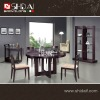 A-7 Simple design stylish round dining table and pu chair