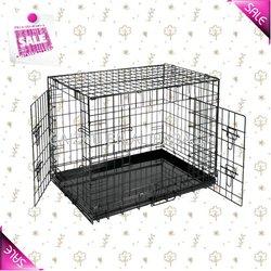 Strong Metal Folding Dog Cage, Iron Dog Crate 5 Sizes