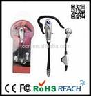 Earhook earbud hands free,single ear headset microphone