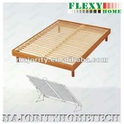 Wood slat Bed base with wood surround for mattress base