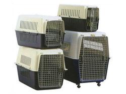 Plastic pet airline cage/dog transport cage