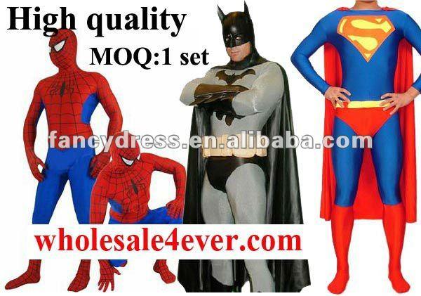 Zentai Suit Spiderman Costumes Superhero costumes n3312 Khaki Fullbody Spandex Zentai Suit larger image