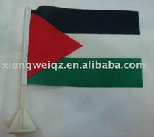 custom made flag polyester satin P/C T/C table flag