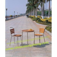 Garden 304 stainless steel and teak coffee table set